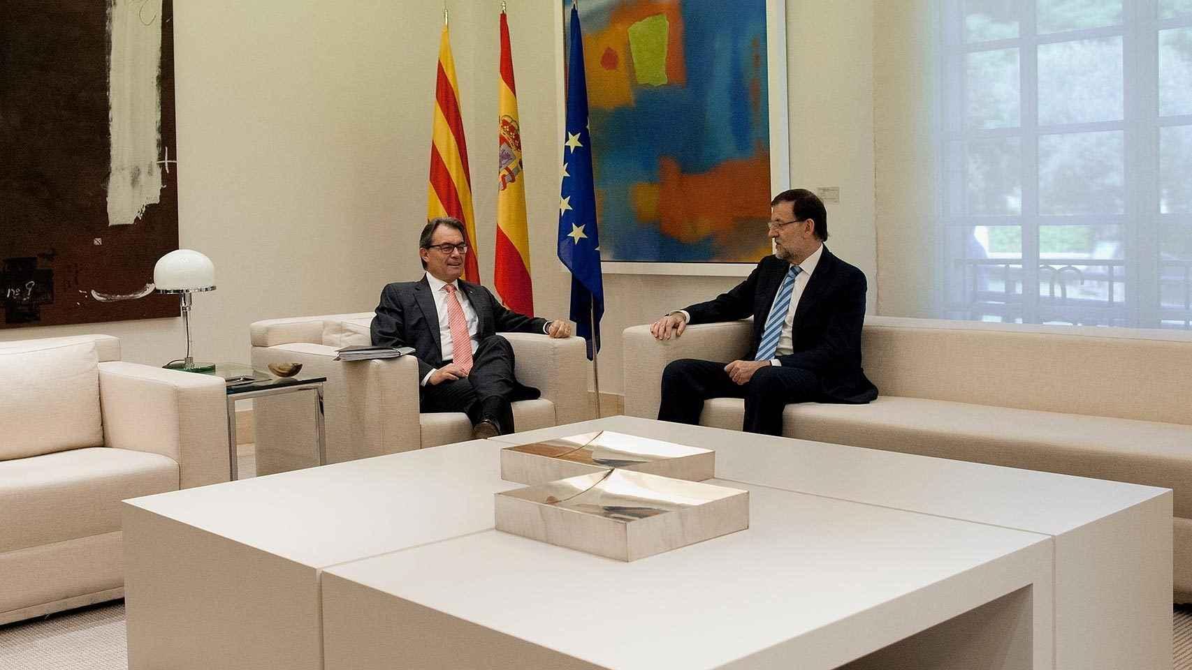 Reunión de Rajoy y Mas en La Moncloa el 30 de julio de 2014