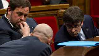 Romeva, Junqueras y Puigdemont este miércoles en el Parlament