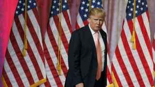 El candidato republicano Donald Trump tras conocer los resultados electorales de esta noche