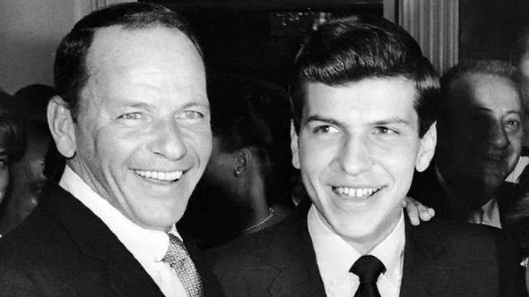 Frank Sinatra y su hijo Frank Sinatra Jr.