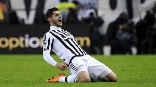 Morata celebra un gol de la Juventus