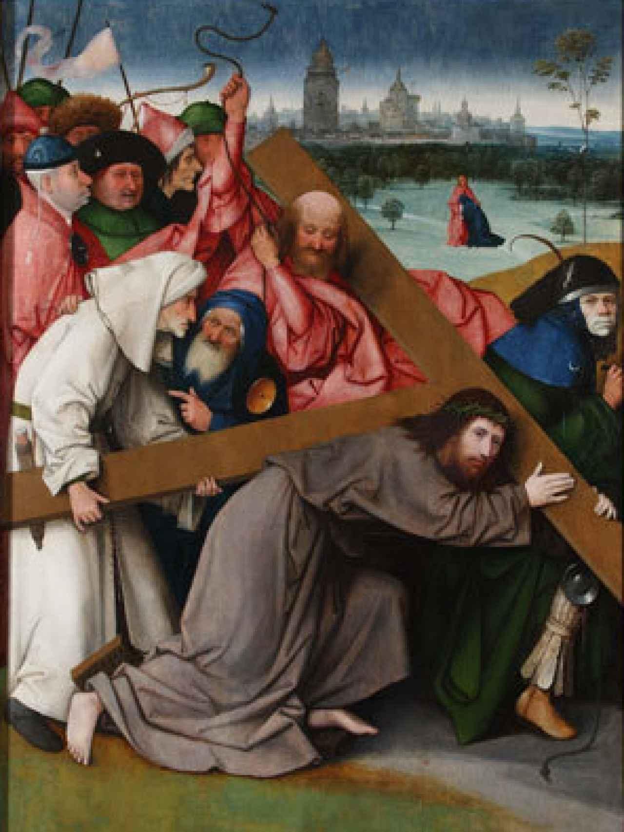 Cristo con la cruz a cuestas, de El Bosco.