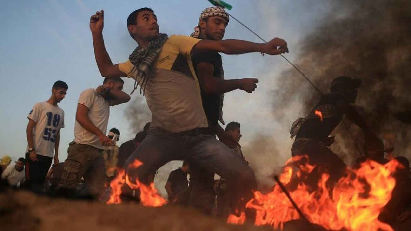 Protestas violentas en Palestina.