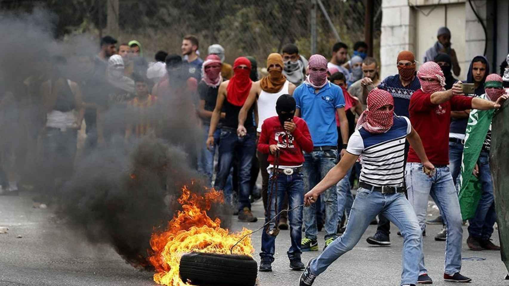 Protestas violentas en Palestina