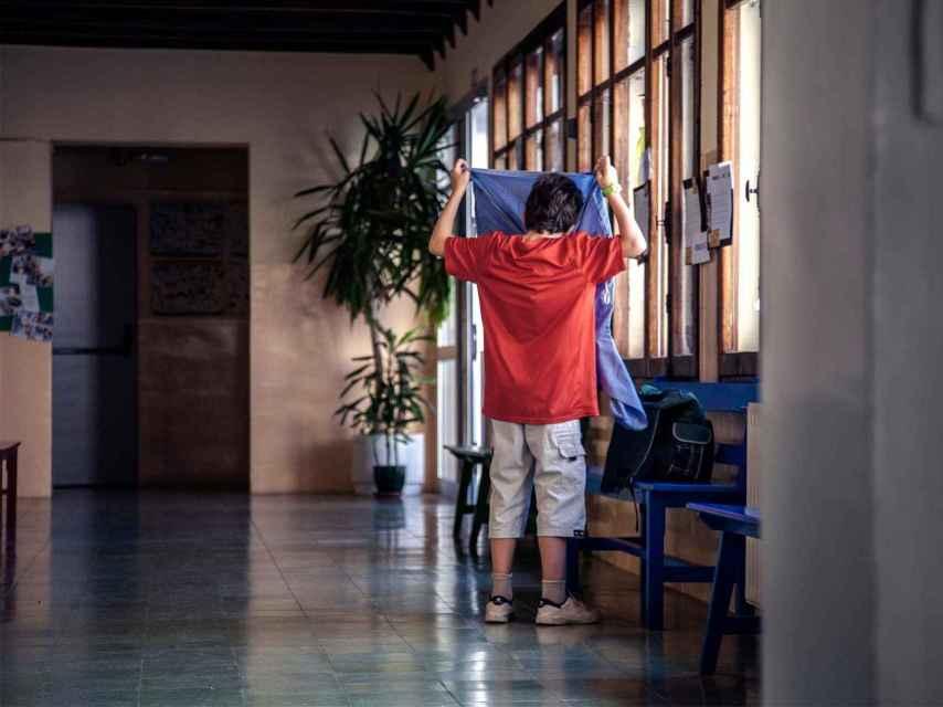 Pere en su colegio