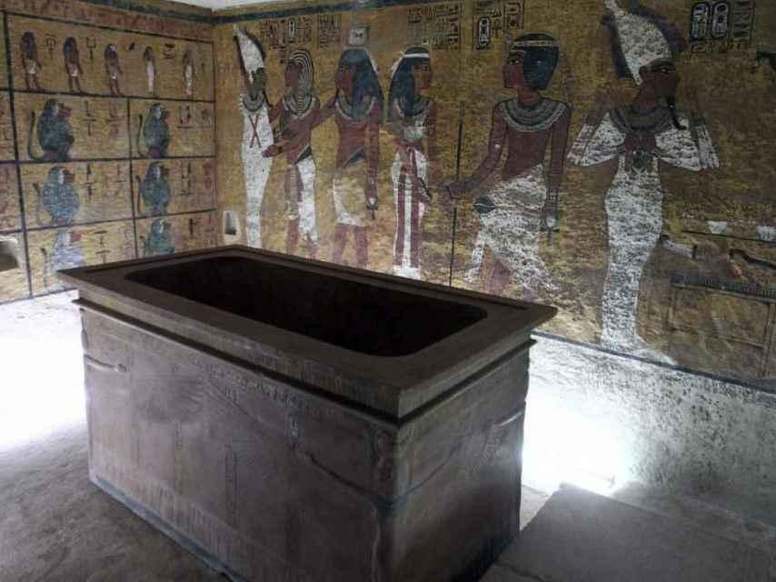 Réplica de la tumba de Tutankamón.