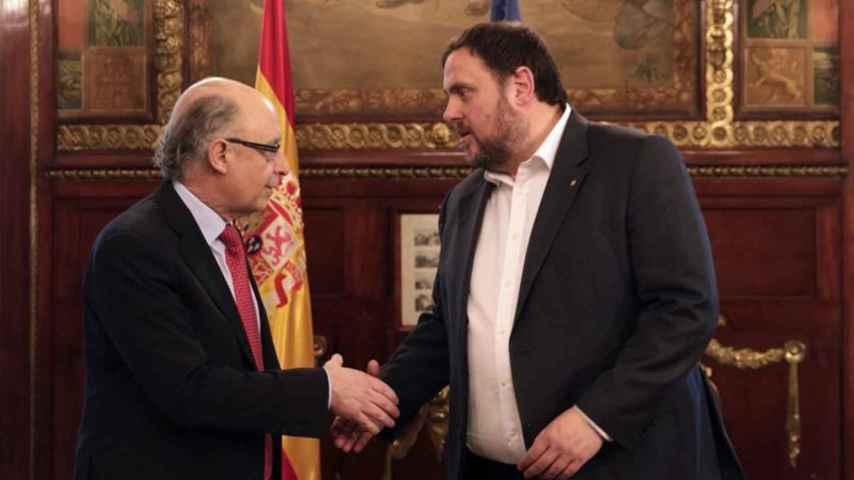 Oriol Junqueras y Cristóbal Montoro
