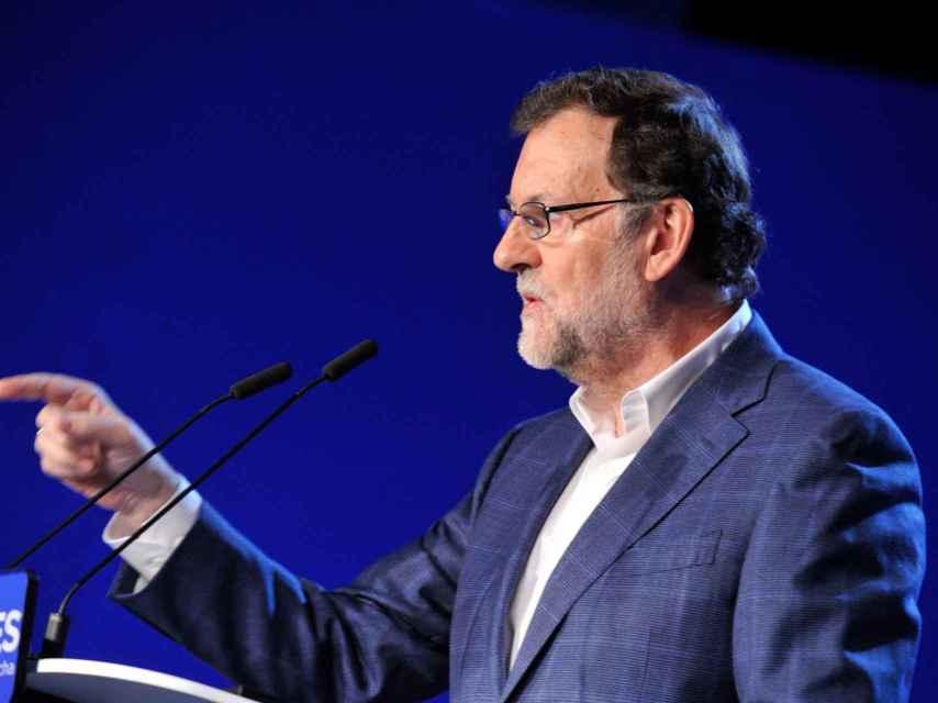 Rajoy en el acto del PP celebrado este sábado en Toledo.