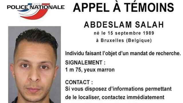 Ficha policial de Salah Abdeslam.