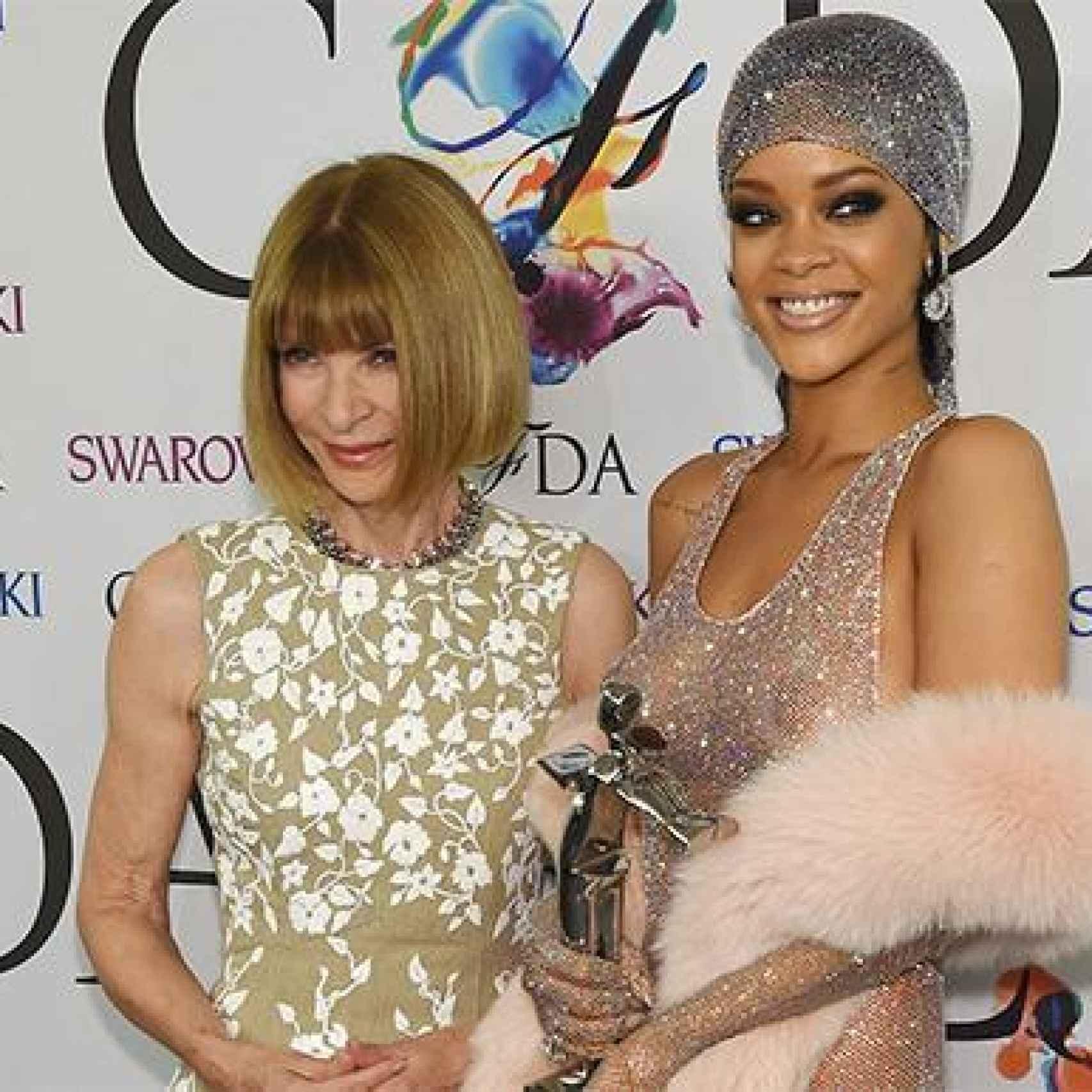 Anna Wintour y Rihanna en la gala de los CFDA en 2014