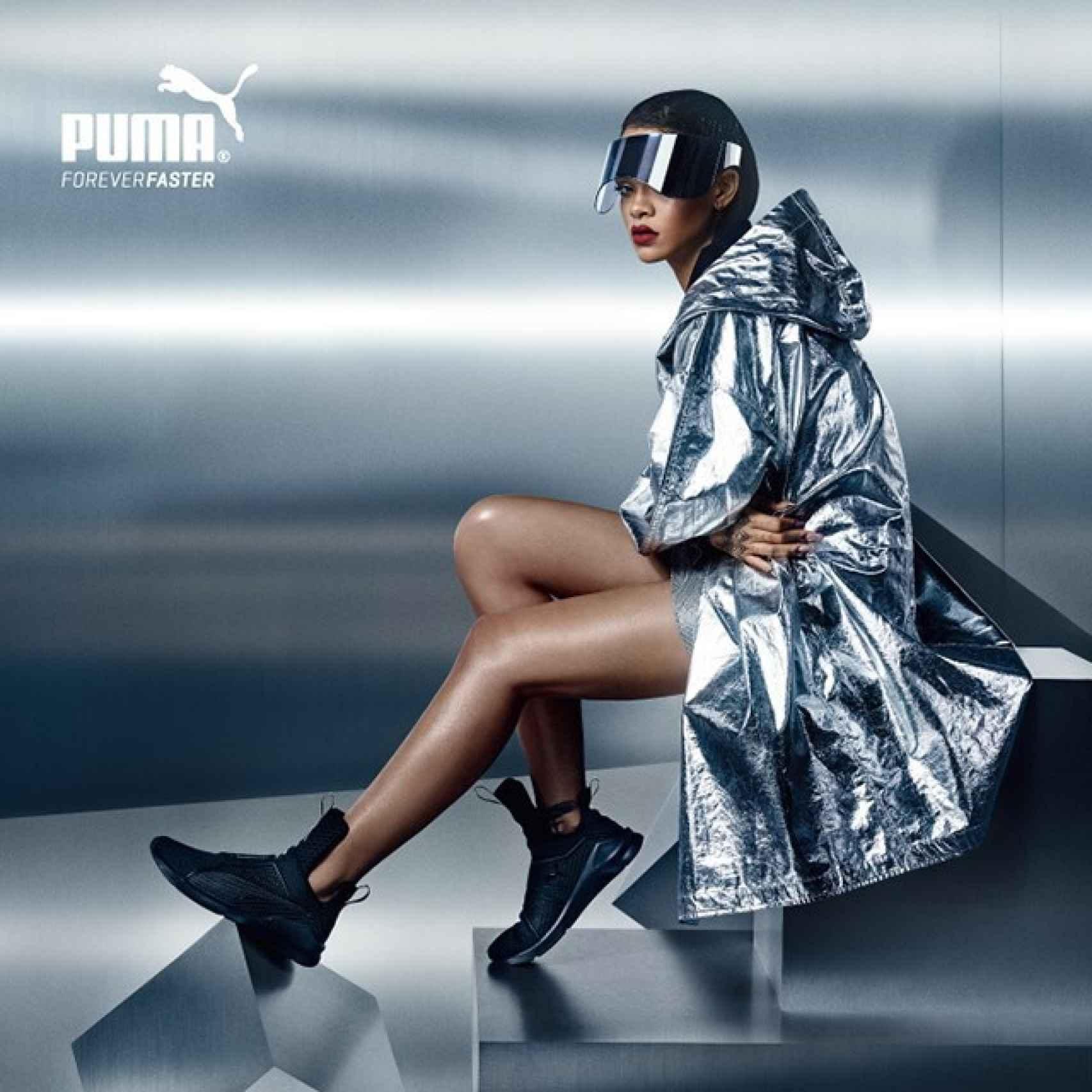 Rihanna en la campaña de su colección para Puma