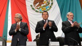 Baltasar Garzín y Antonio Navalón en un acto celebrado en al cámara mexicana en agosto de 2011