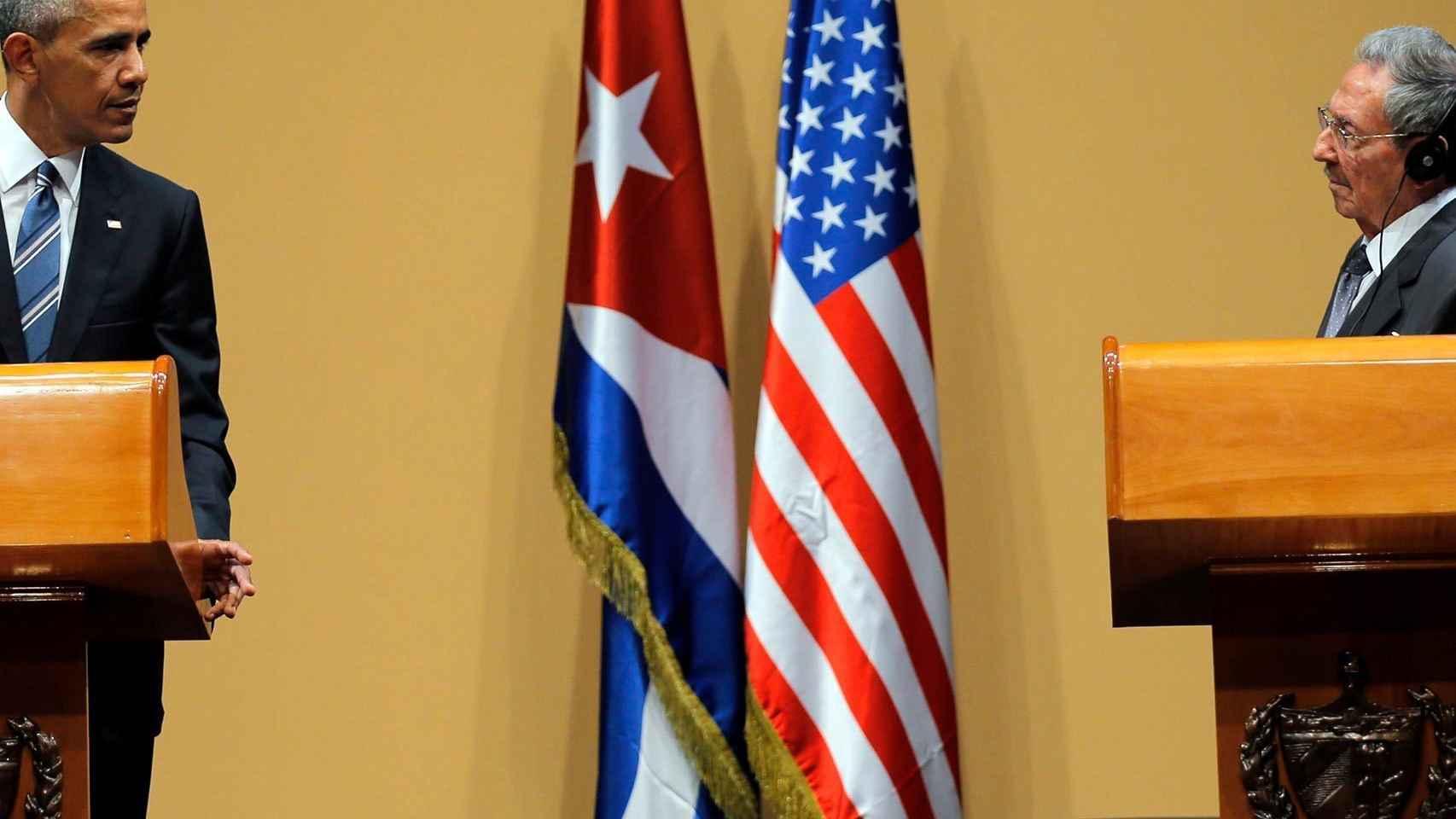 Obama y Castro, en rueda de prensa en La Habana.
