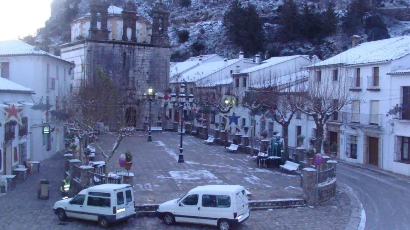 Nieve en el municipio.