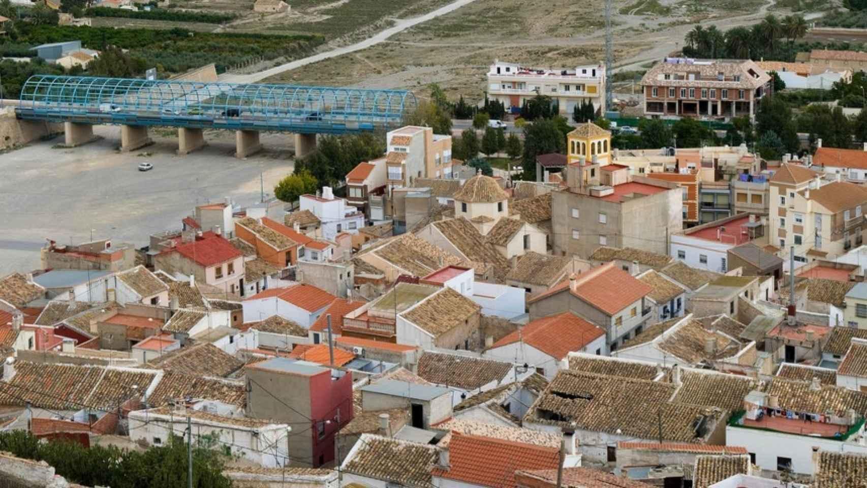 Vista aérea del pueblo.