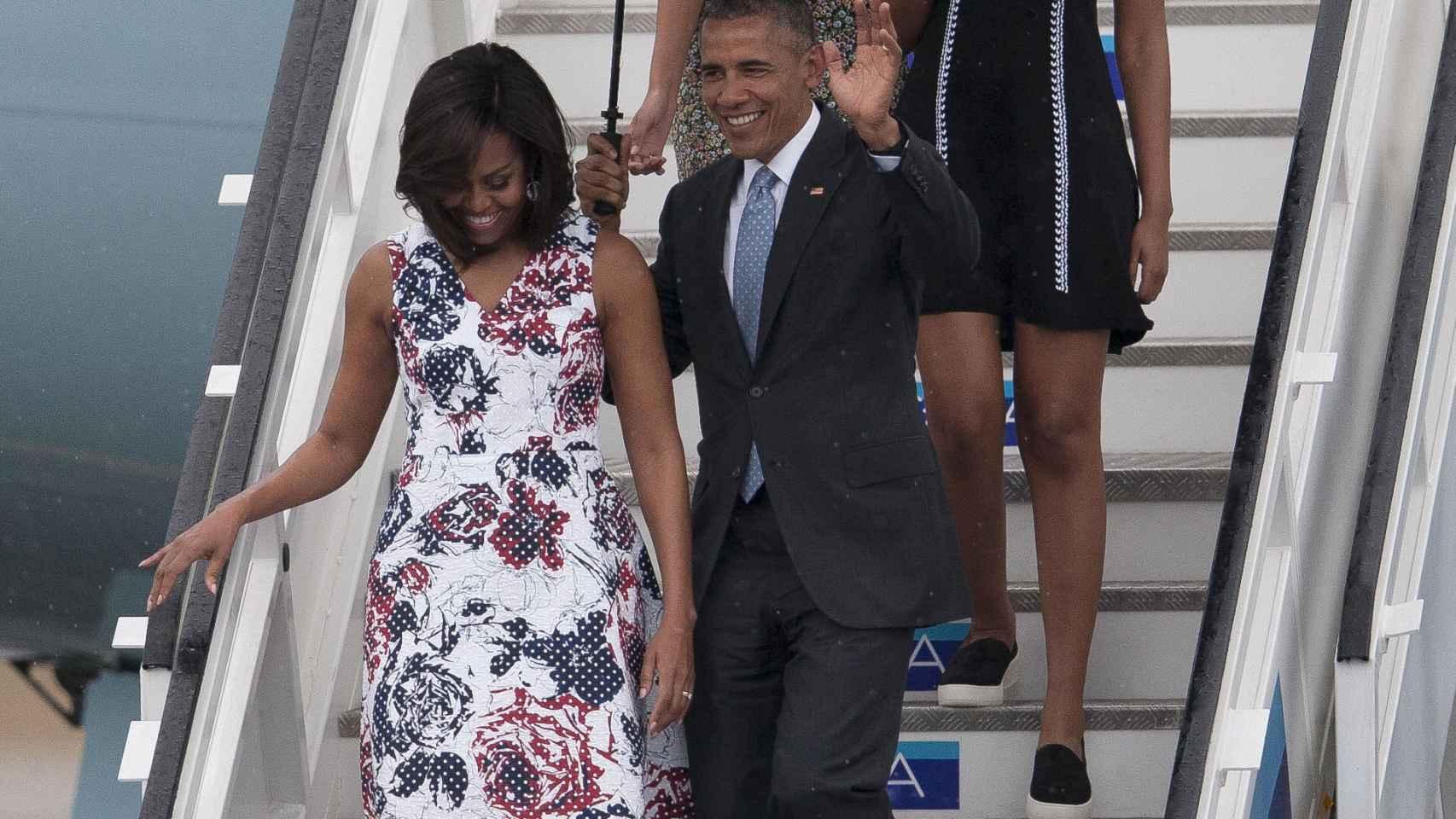 Los Obama durante su visita a Cuba