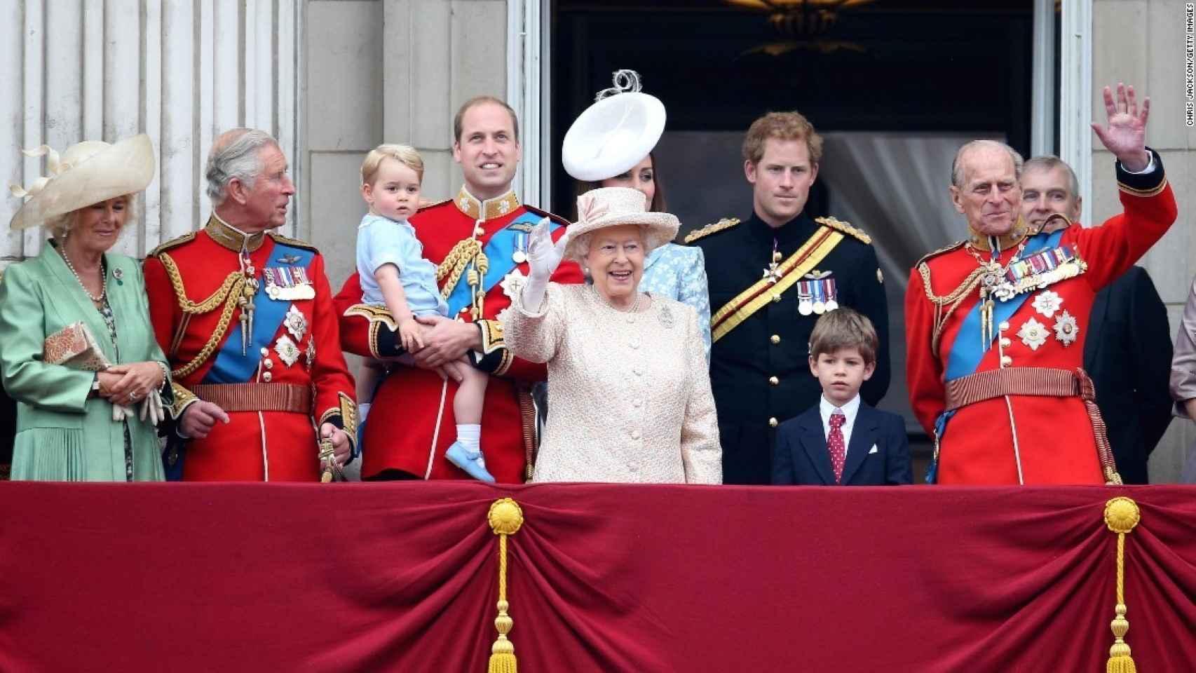 La familia real británica en el 89 cumpleaños de Isabel II