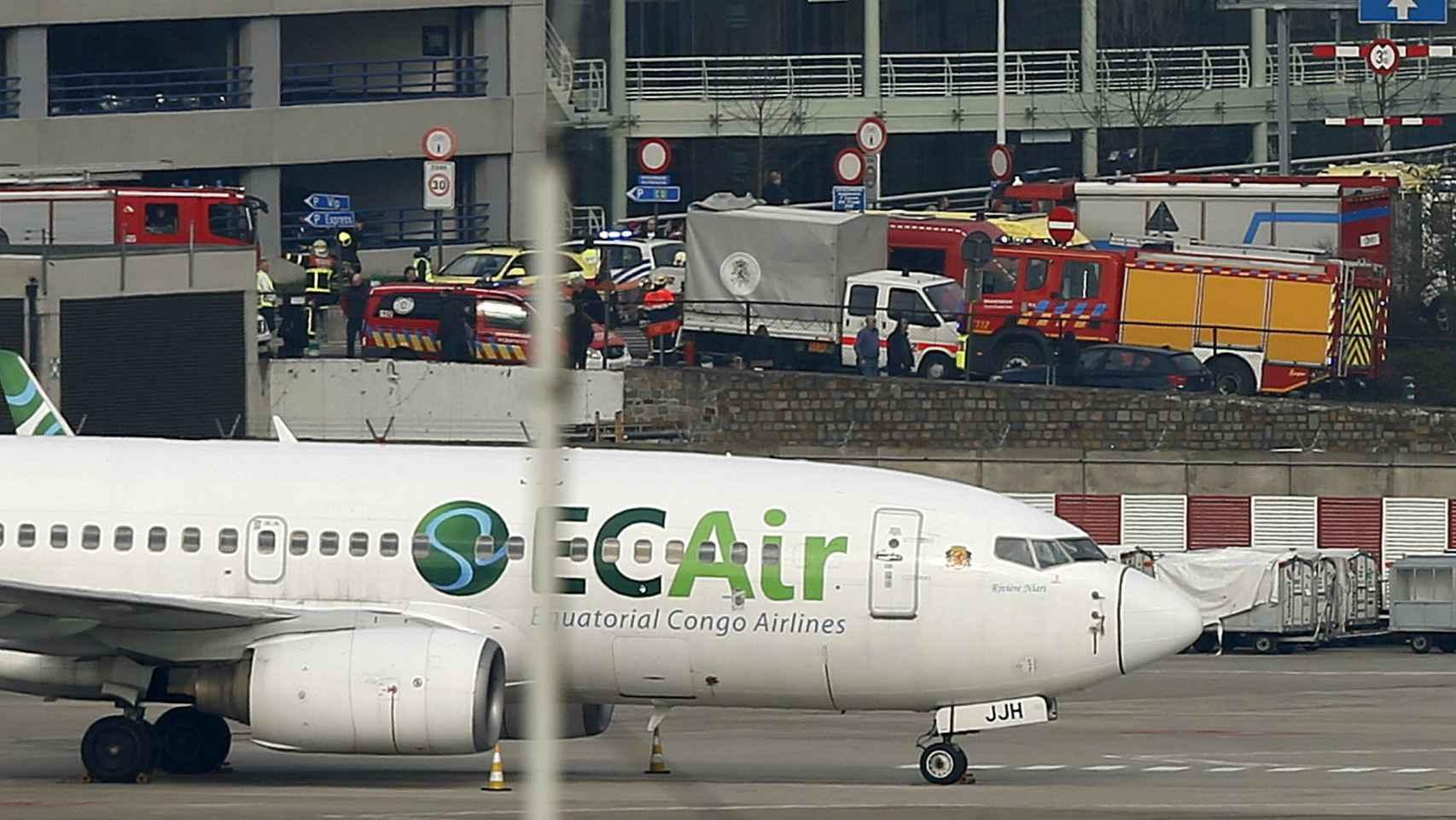 Imagen del aeropuerto de Zaventem en Bruselas.