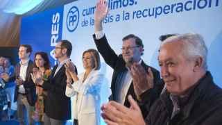 Mariano Rajoy con sus vicesecretarios.