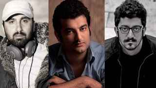 Mehdi Rajabian, Hossein Rajabian y Yousef Emadi, los tres artistas condenados a prisión por Irán.