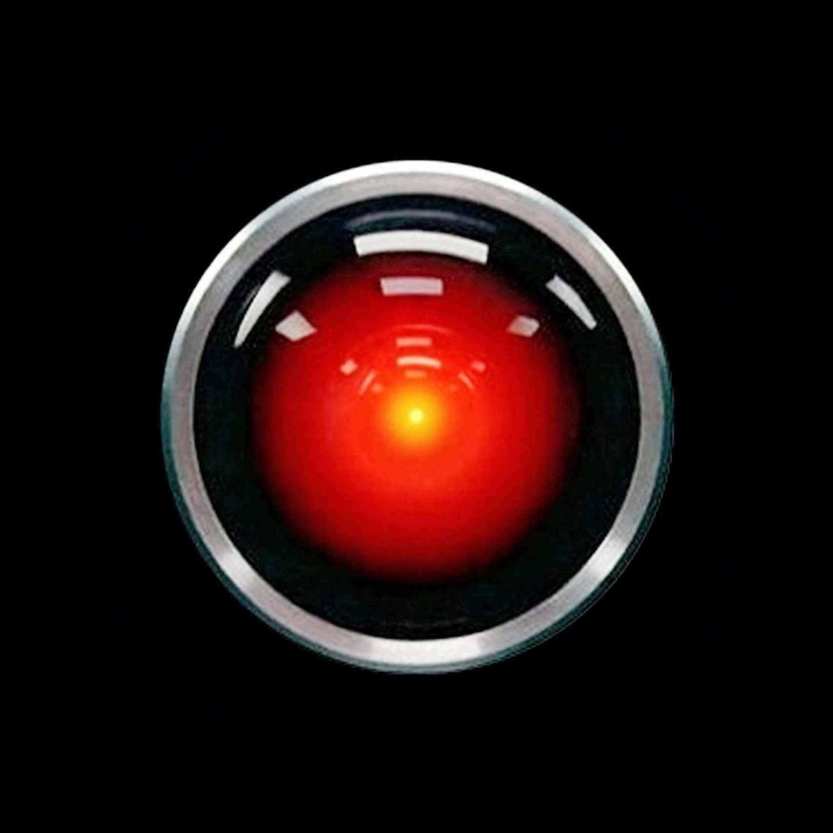 Hall 9000, el ojo de Odisea en el Espacio, de Stanley Kubrick.