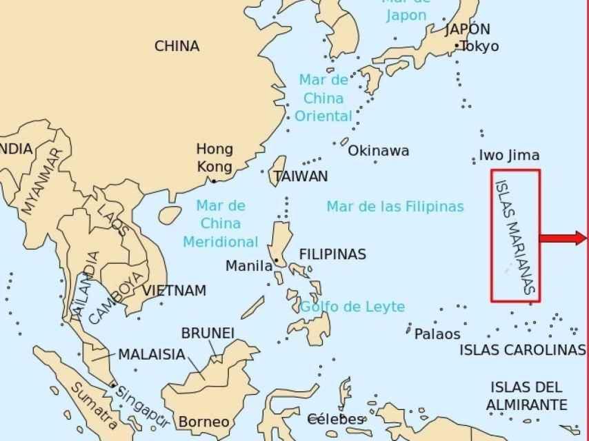 Mapa Marianas