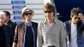 Los Rolling Stones, llegando a La Habana.