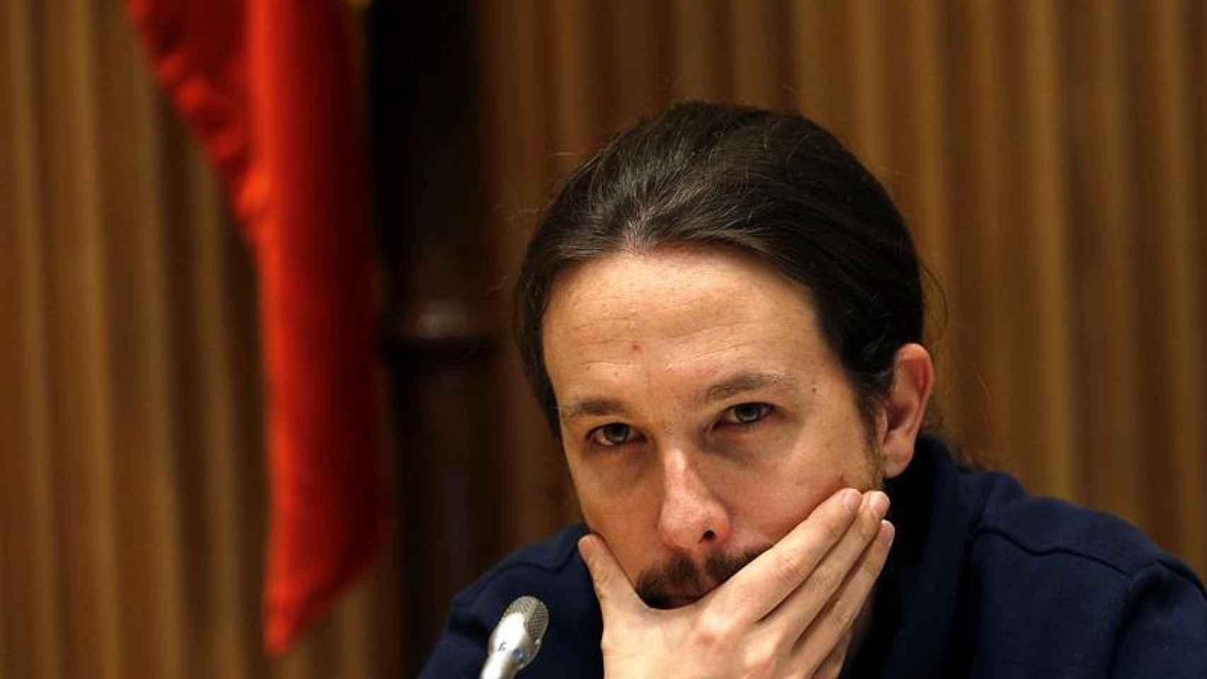 El secrerario general de Podemos, Pablo Iglesias/Kiko Huesca/EFE