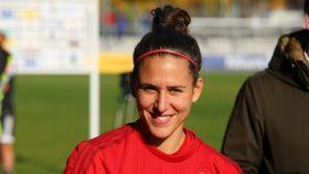 Verónica Boquete, con la camiseta del Bayern Múnich.