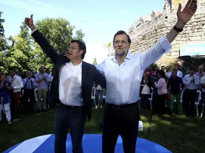 Los líderes del PP nacional y gallego, Mariano Rajoy y Alberto Núñez Feijóo.