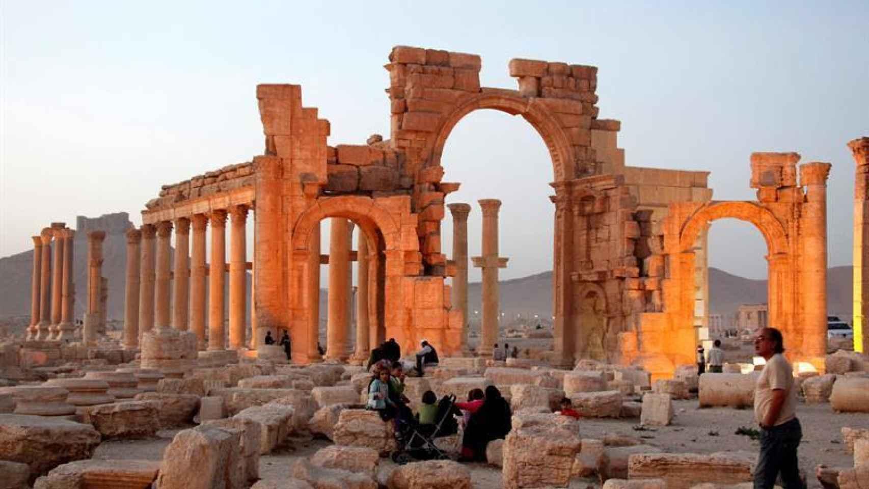 La ciudad histórica de Palmira, en el centro de Siria.