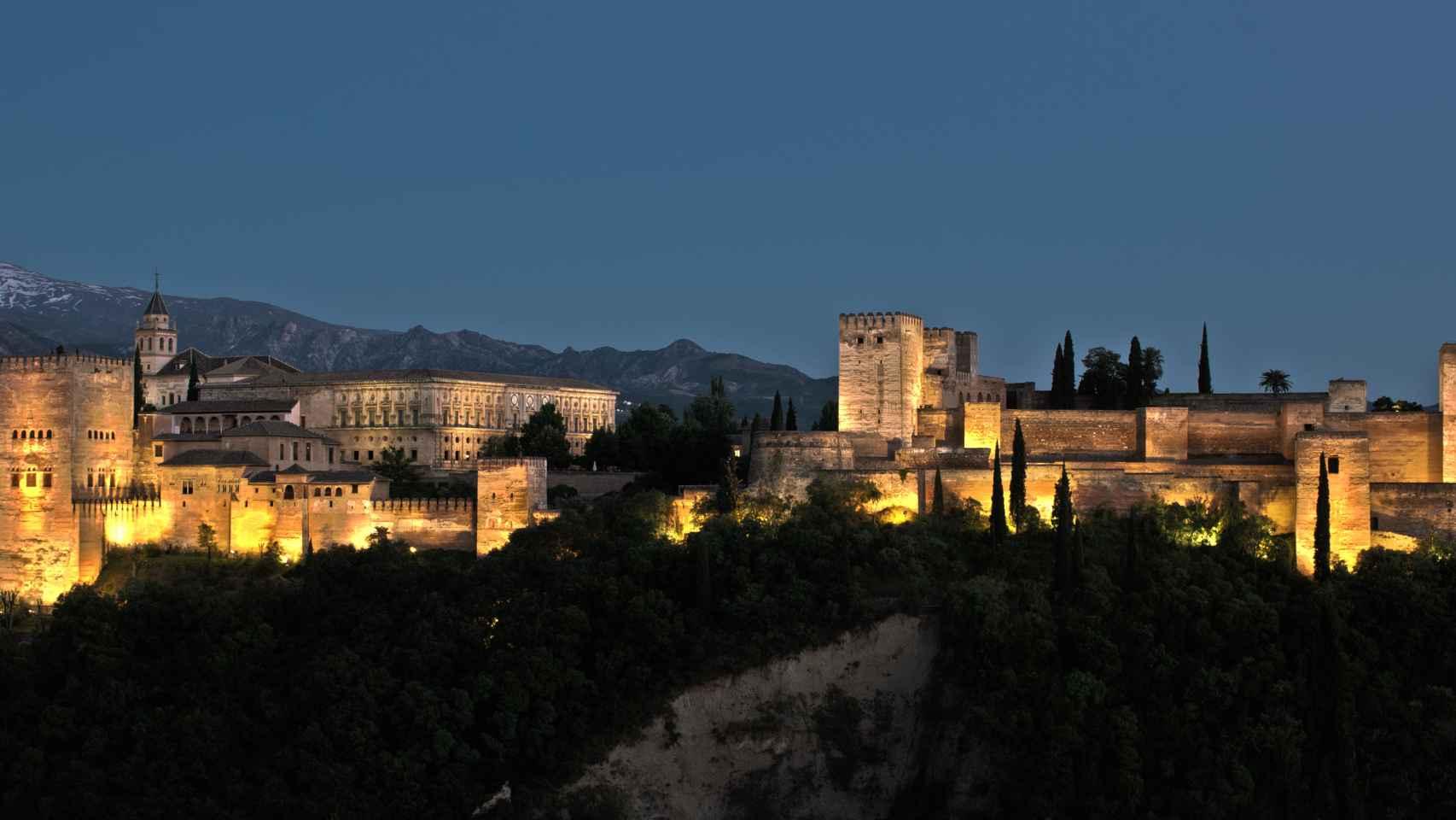 Vista de la Alhambra en Granada.