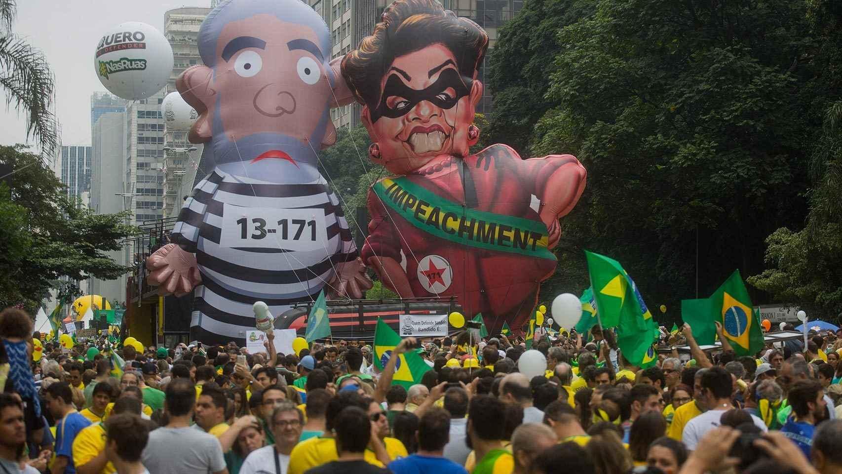 Manifestación contra Lula en Sao Paulo.