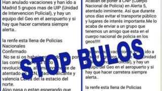 La policía alerta para un bulo de whatsapp que informa de un atentado inminente en España