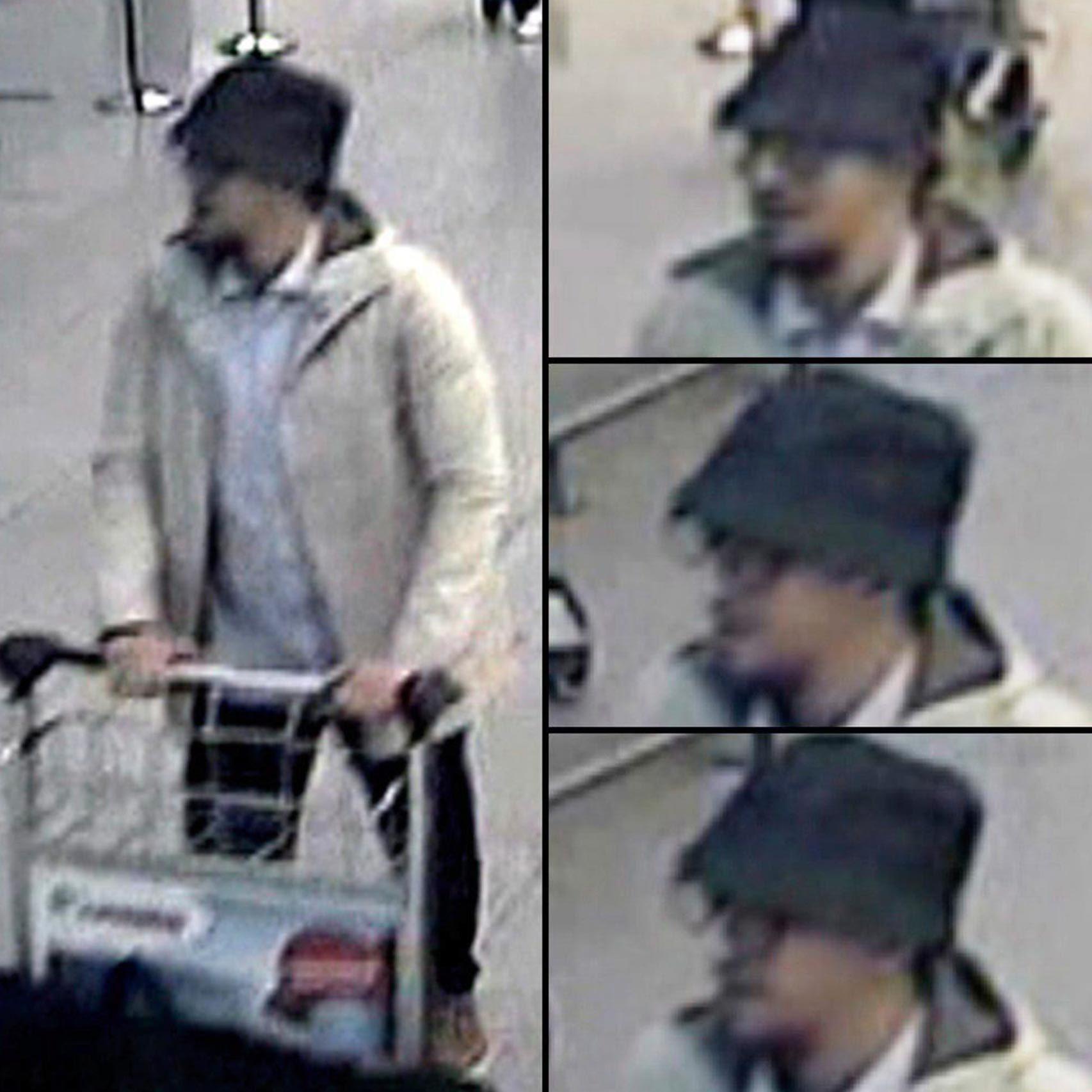 El hombre de blanco, el tercer terrorista del aeropuerto.