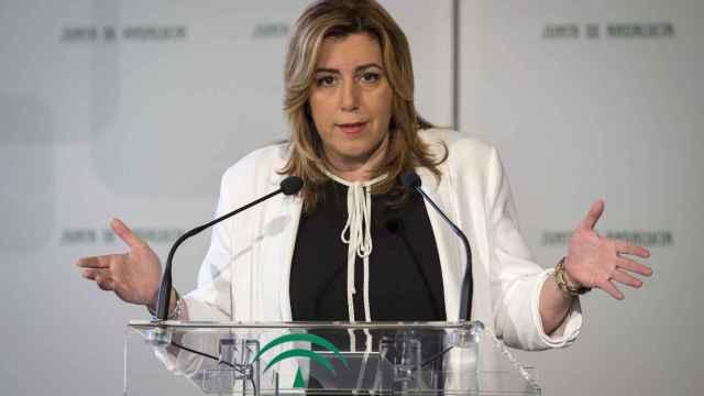 Susana Díaz, en un acto público este lunes.