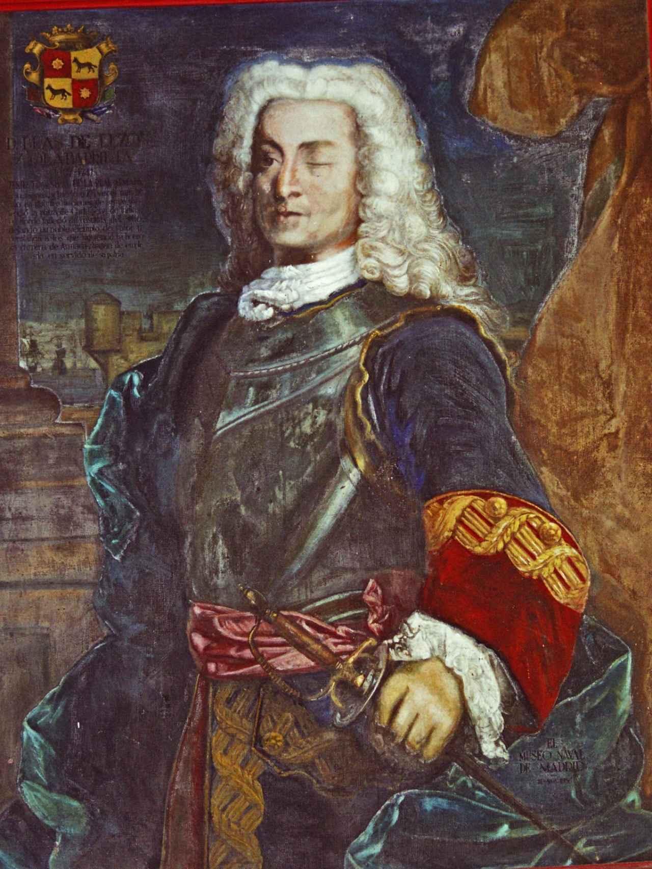 Retrato de Blas de Lezo.