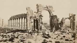 El Arco del Triunfo de Palmira en 1880.