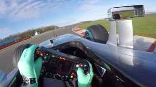 Imagen de la nueva cámara en el monoplaza de Nico Rosberg durante la pretemporada.