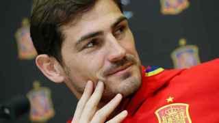 Iker Casillas, con la selección española.