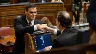 Sánchez y Rajoy, en el Congreso de los Diputados.