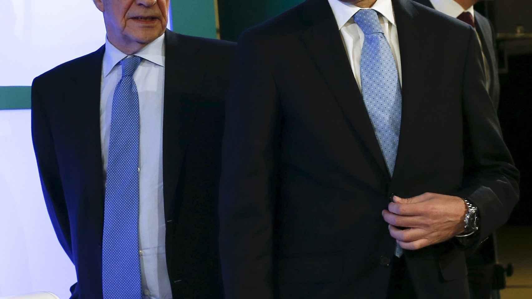 Jose María Álvarez Pallete junto a César Alierta.