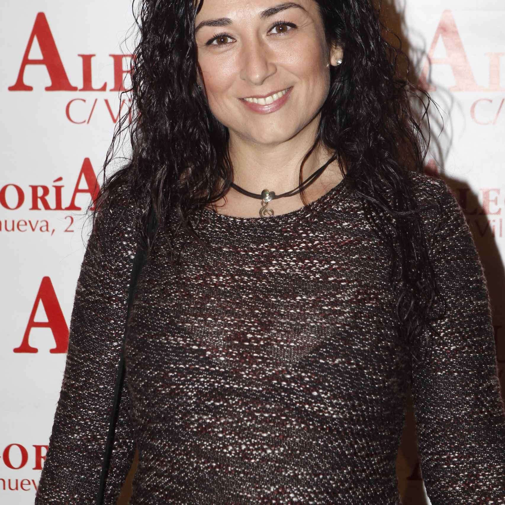 La cantante María Ángeles Muñoz durante la presentación