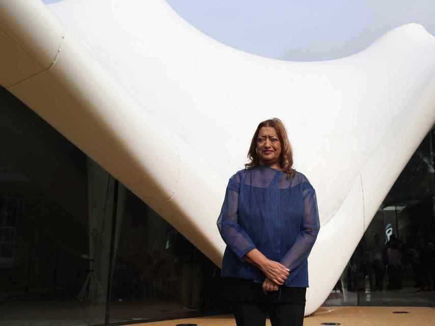 Zaha Hadid en la Serpentine Sackler Gallery de Hyde Park.