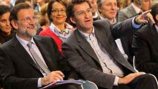 Mariano Rajoy junto con Alberto Núñez Feijóo, presidente de la Xunta de Galicia.