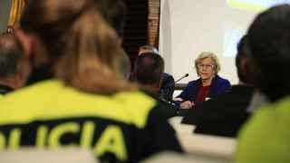 Manuela Carmena durante la presentación del nuevo plan de Policía.