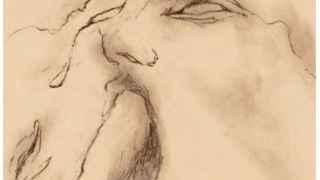 Uno de los dibujos pornográficos de Aute en el que retrata una felación.