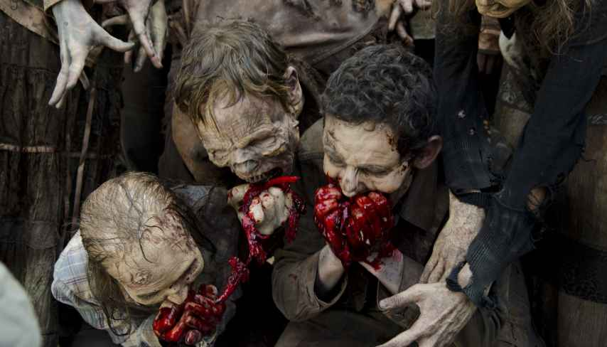 Una imagen de la sexta temporada de The walking dead.