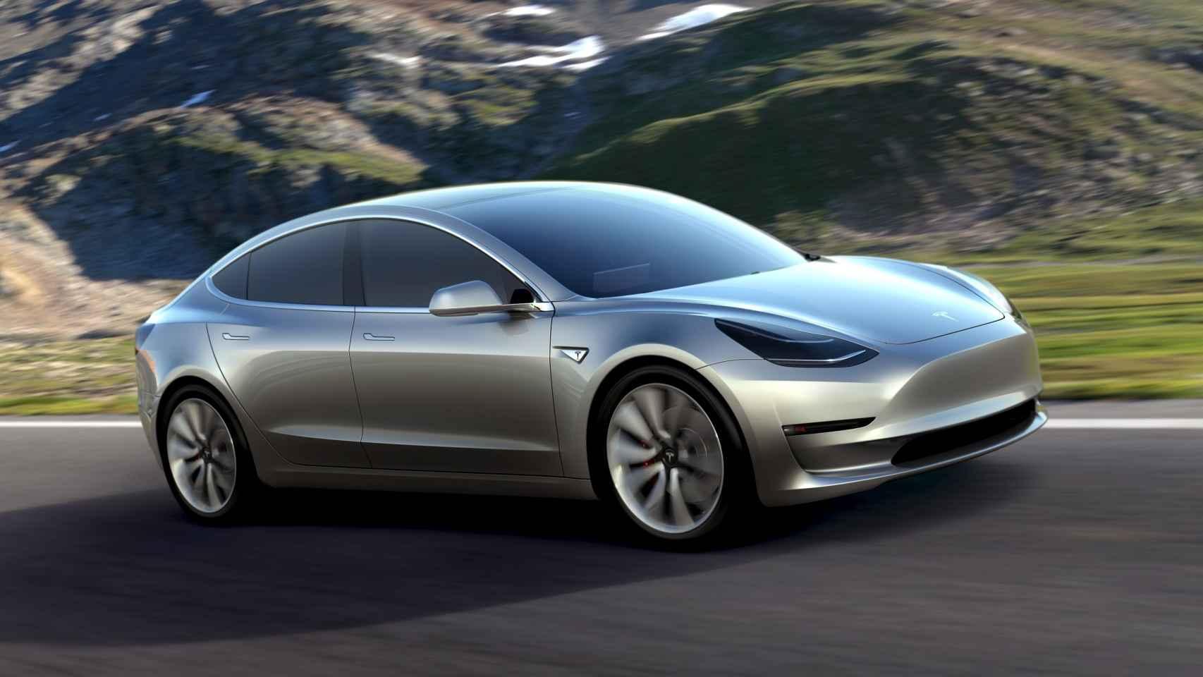 Imagen del último modelo de Tesla.