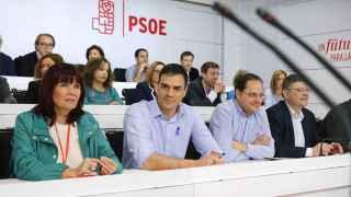 Sánchez, con su Ejecutiva este sábado en la sede socialista de Ferraz.
